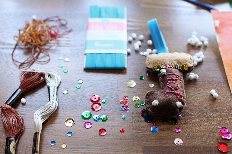 Joy Bias Tape Christmas Ornament