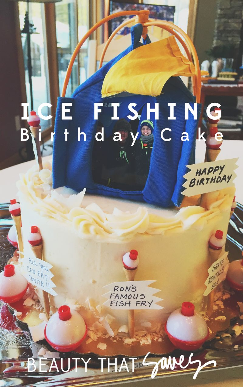 Miraculous Party Party Party Ice Fishing Birthday Cake Beauty That Saves Funny Birthday Cards Online Chimdamsfinfo
