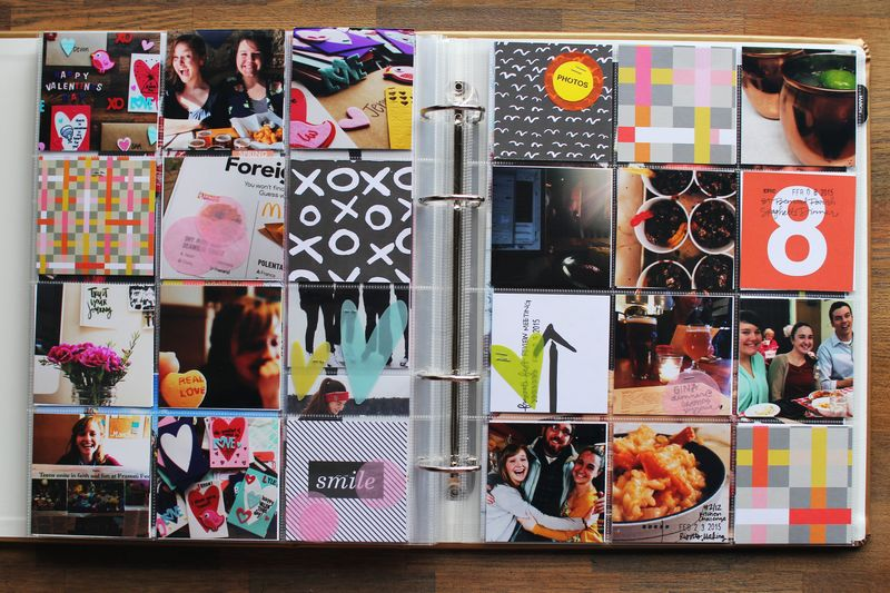 Messy Box Project Life Scrapbook Spread